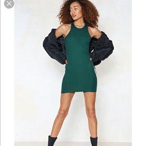 Hearts Racing Mini Dress emerald nasty gal